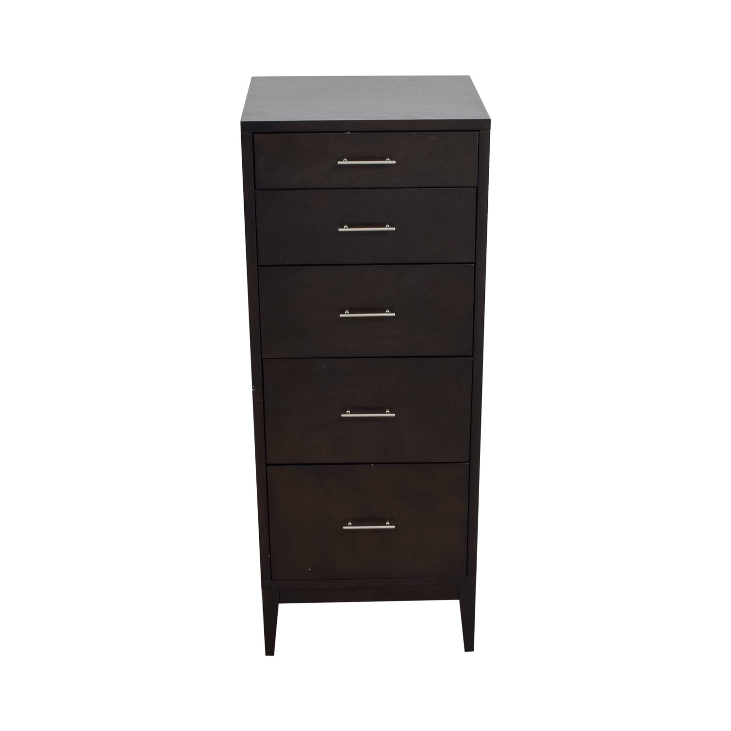 buy West Elm Five-Drawer Brown Dresser West Elm
