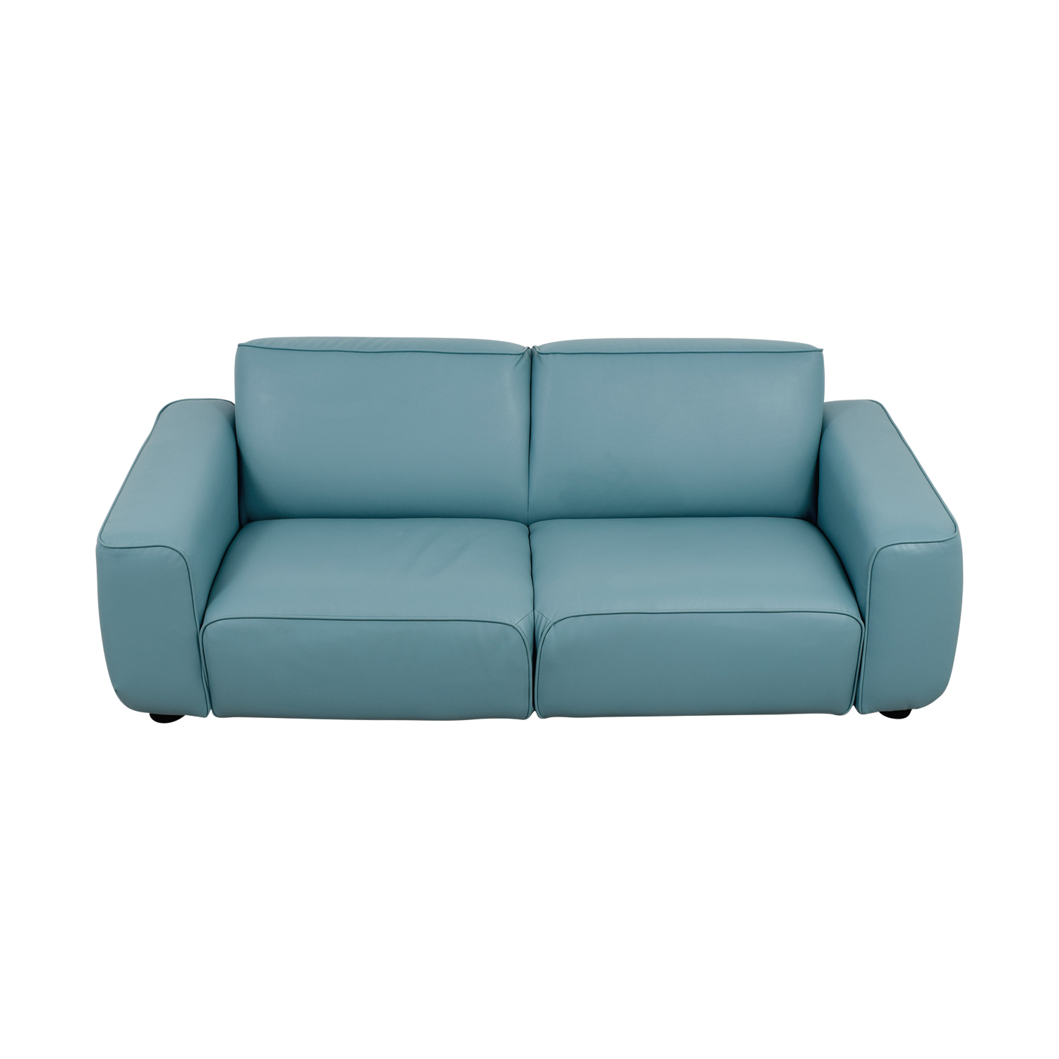 Ikea Coated Baby Blue Loveseat Sofas