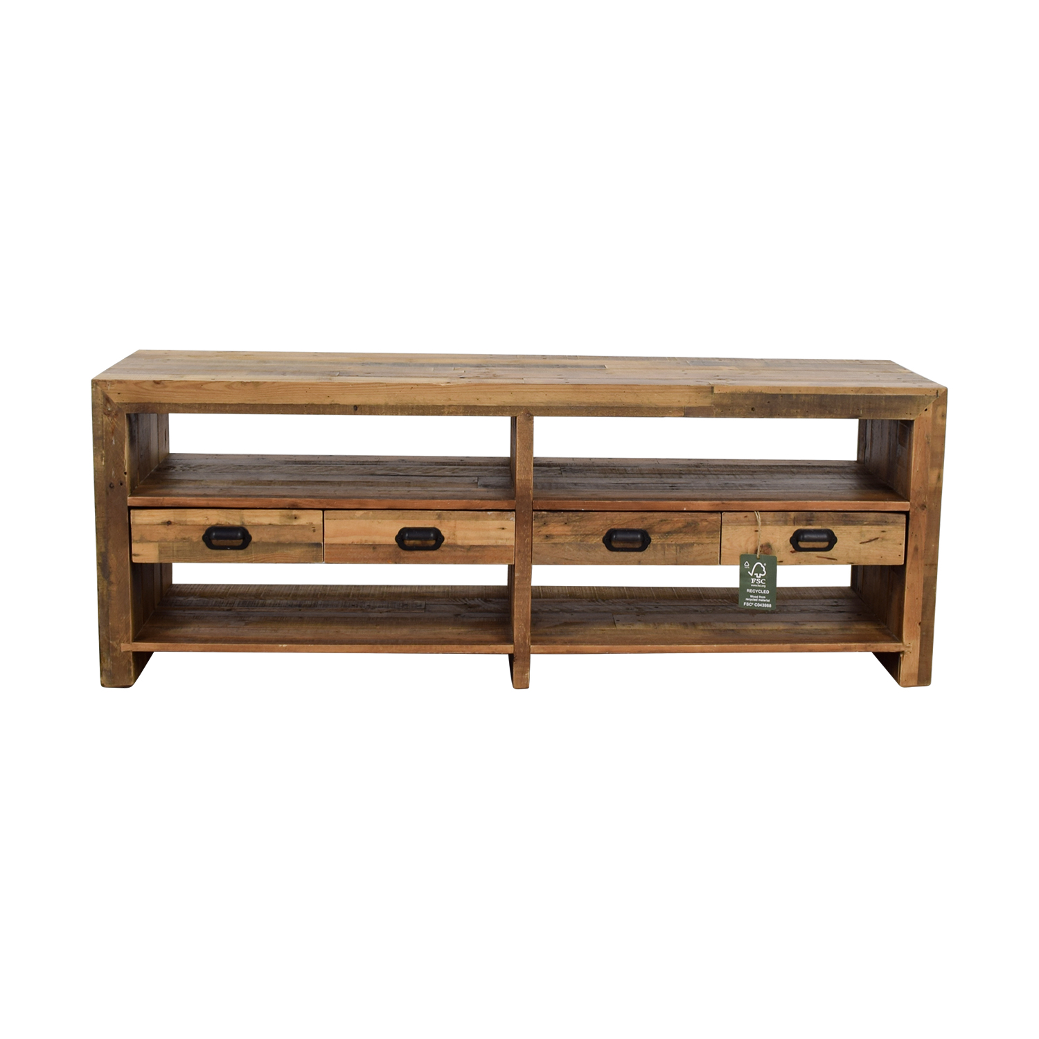 ABC Carpet & Home ABC Carpet & Home Rustic Wood TV Console Storage