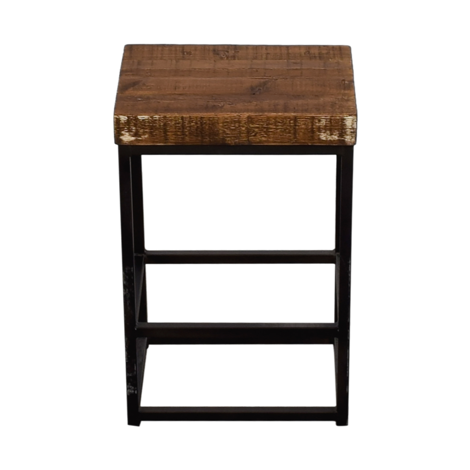 Home Goods Wood And Metal Night Stand Used