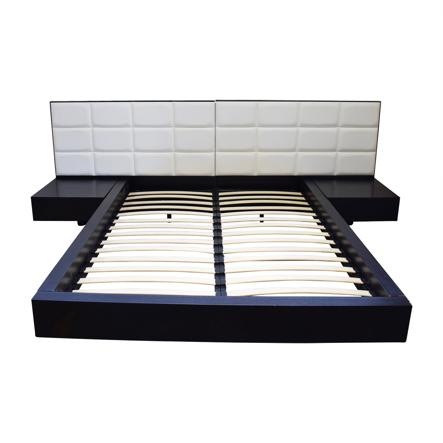 58 off el dorado el dorado minimalist white leather and for Best minimalist bed frame