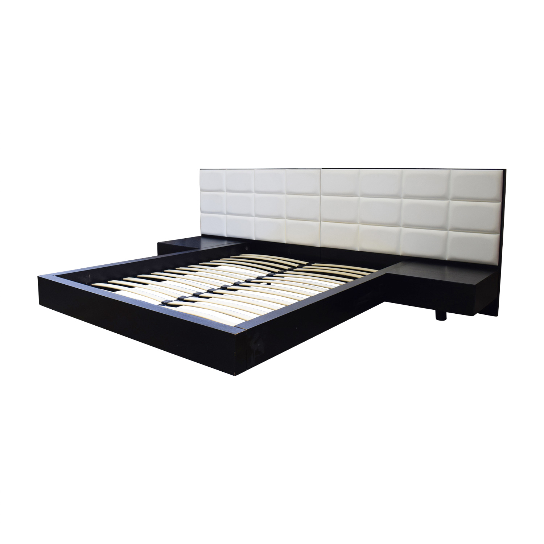 Sensational 86 Off El Dorado Furniture El Dorado Minimalist White Leather And Wood Platform Queen Bed Frame Beds Pdpeps Interior Chair Design Pdpepsorg