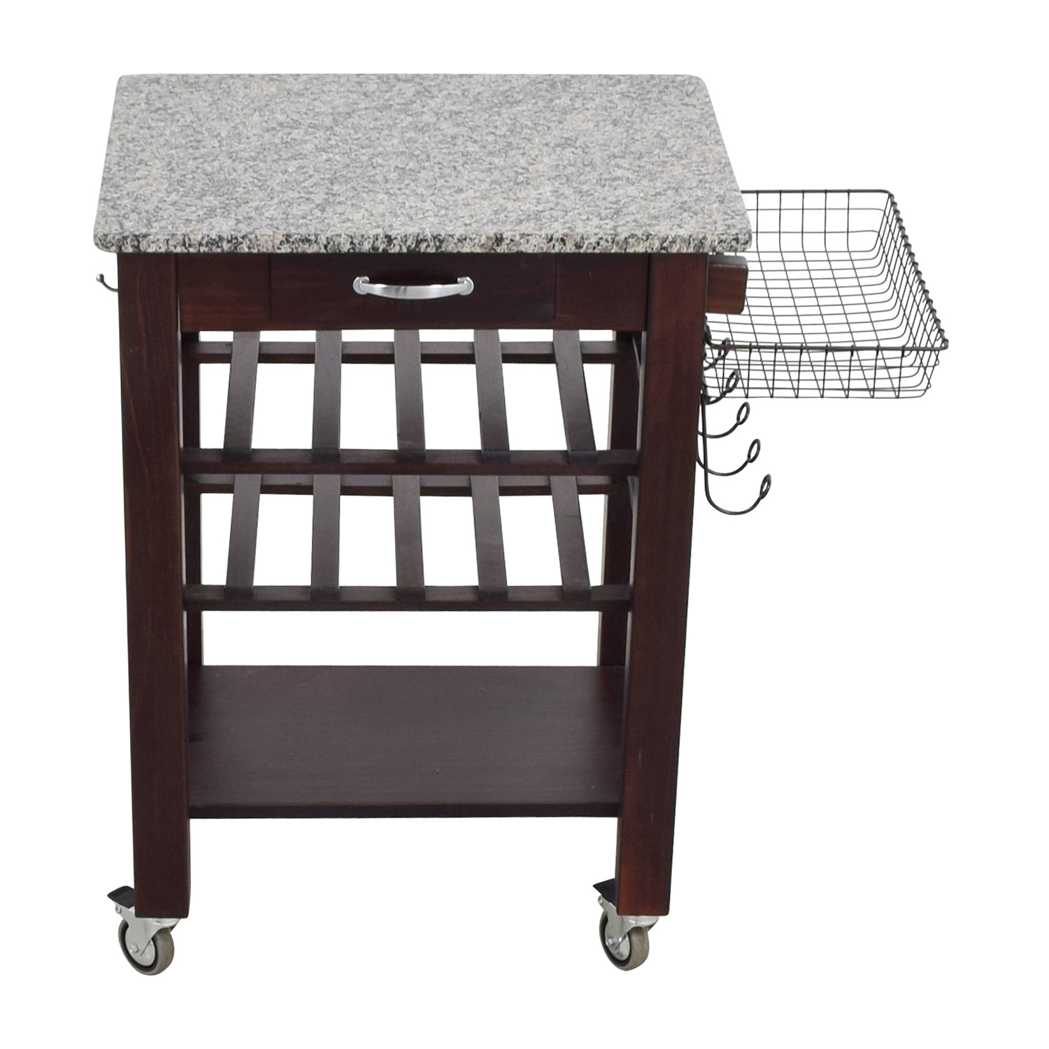 Home Goods Home Goods Marble Top and Wood Base Kitchen Cart dimensions