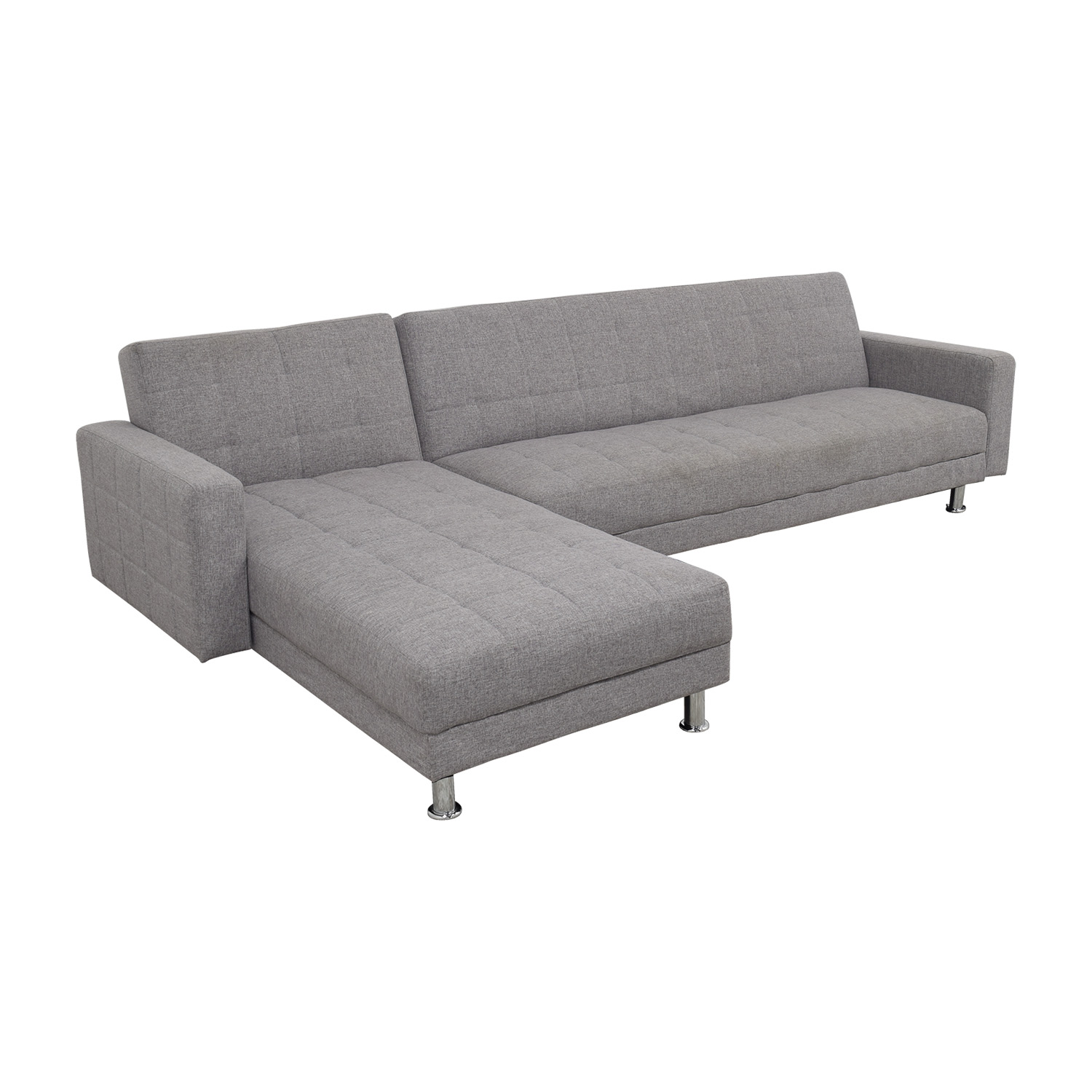 Grey L-Shaped Sectional / Sectionals