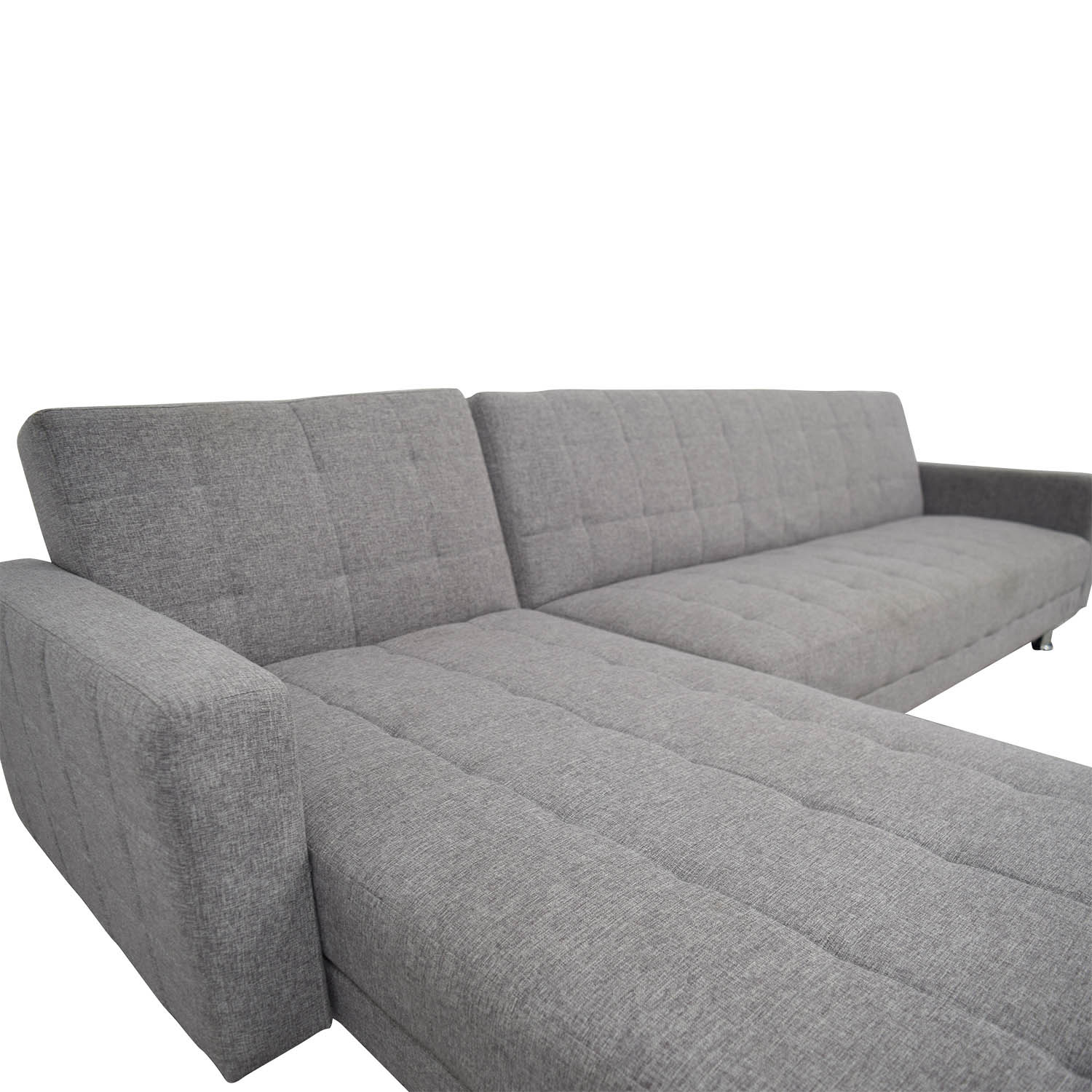 Grey L-Shaped Sectional discount