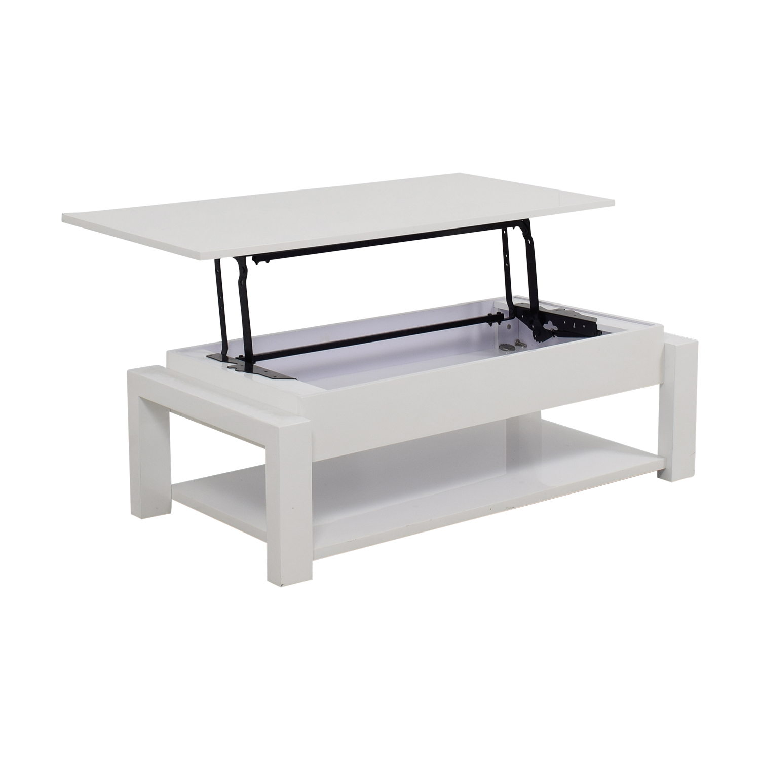 74 Off White Lift Top Coffee Table Tables
