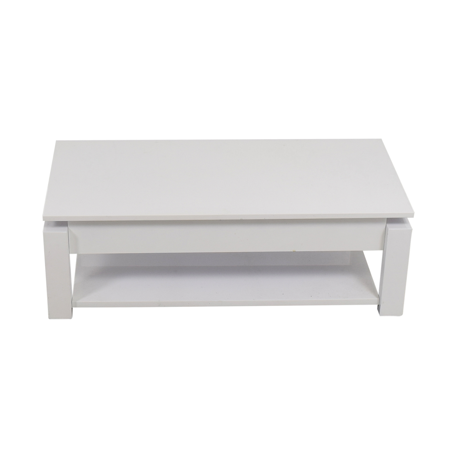 White Lift Top Coffee Table second hand