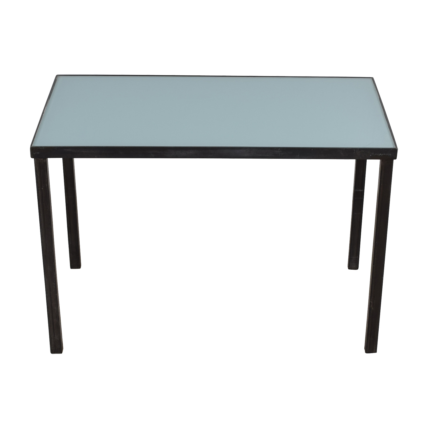 shop West Elm Glass and Steel Desk Table West Elm Tables