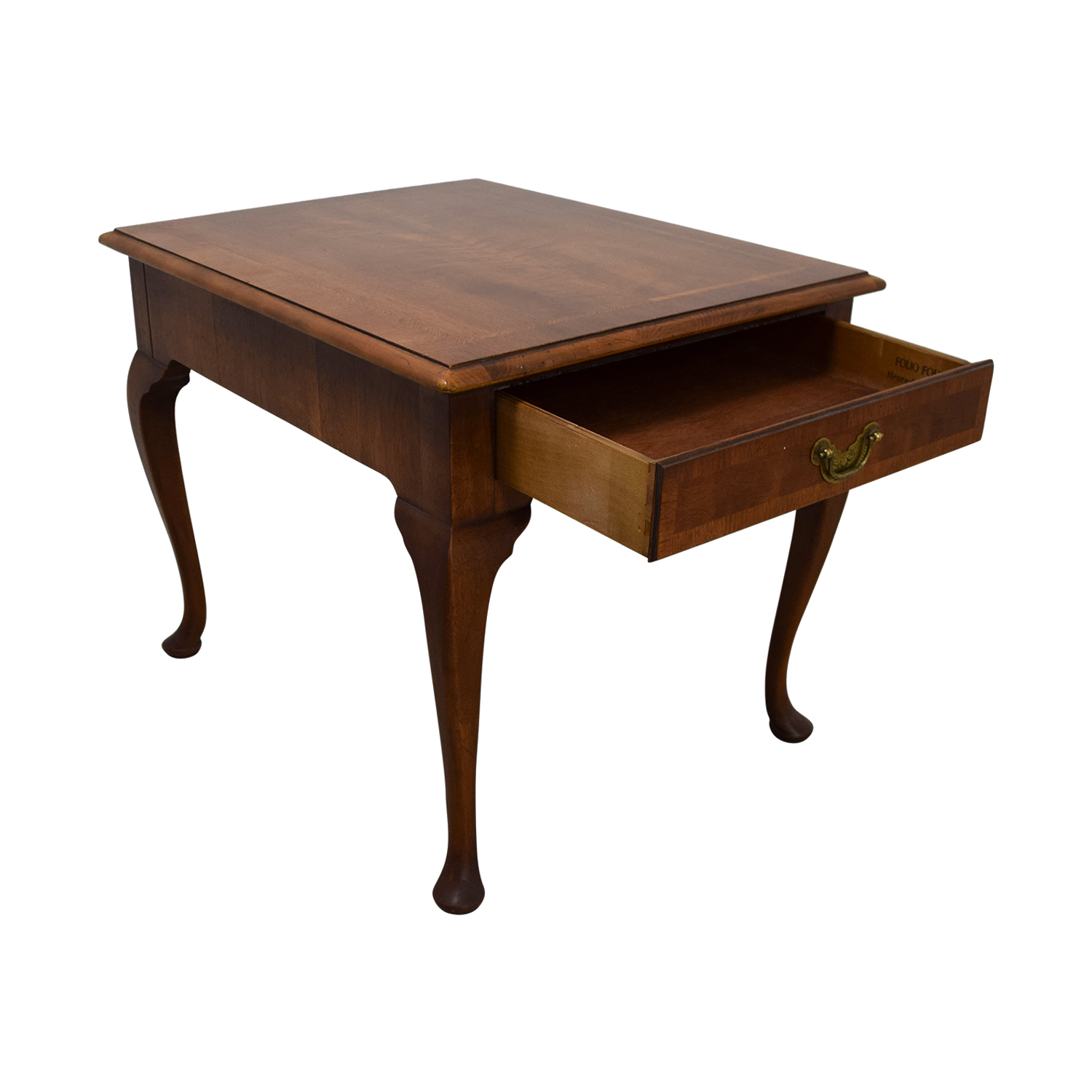 Single Drawer Wood End Table Cherry