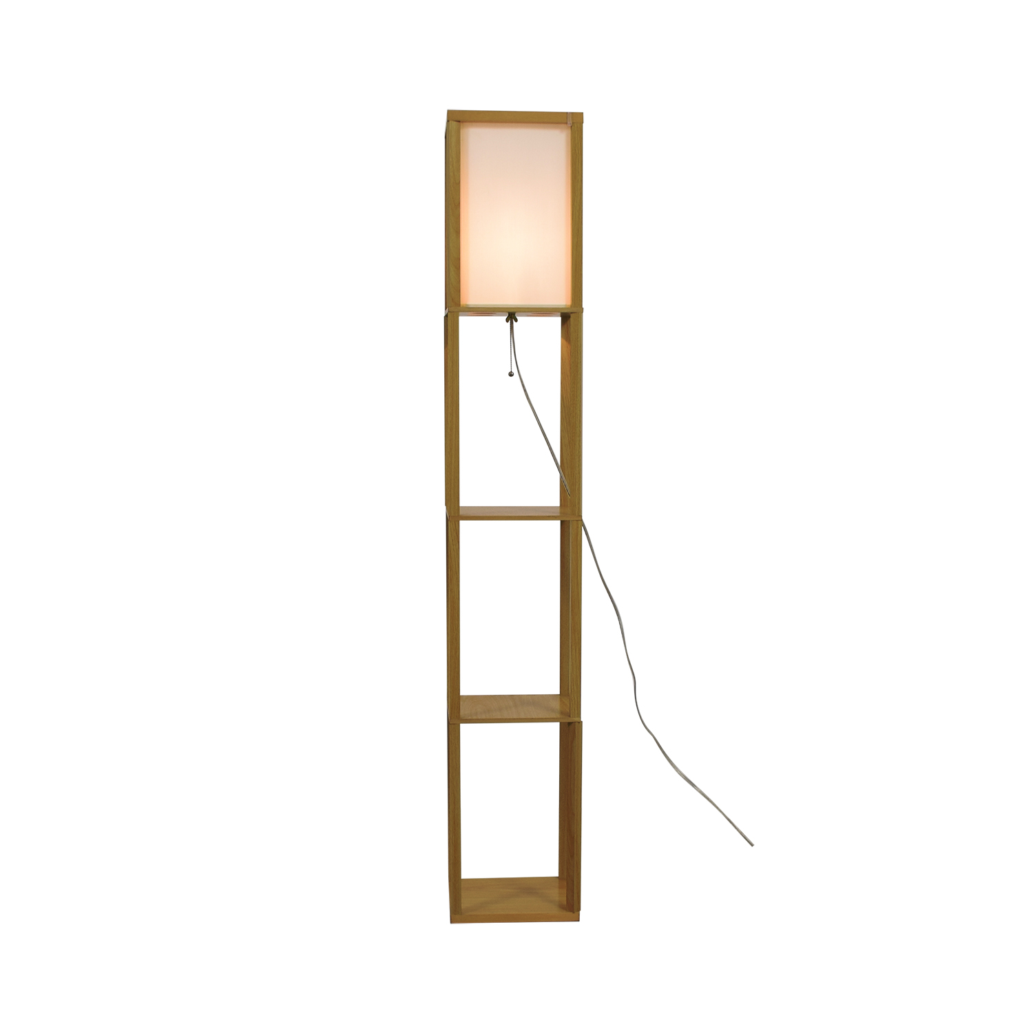 Light Accents Light Accents Wooden Floor Lamp with Linen Shade on sale