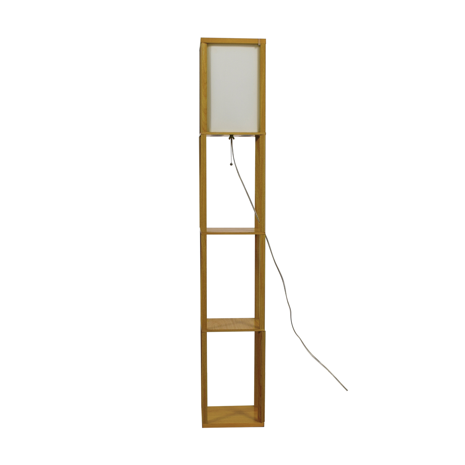 Light Accents Light Accents Wooden Floor Lamp with Linen Shade price