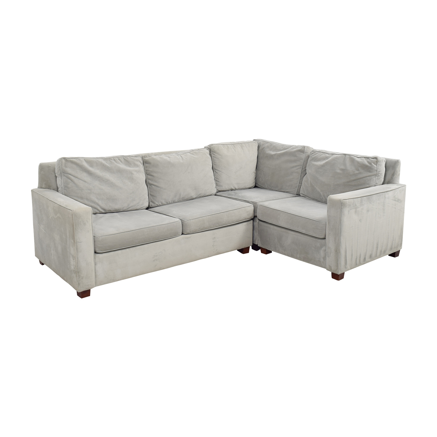 86 Off West Elm West Elm Henry Velvet Stone Sectional