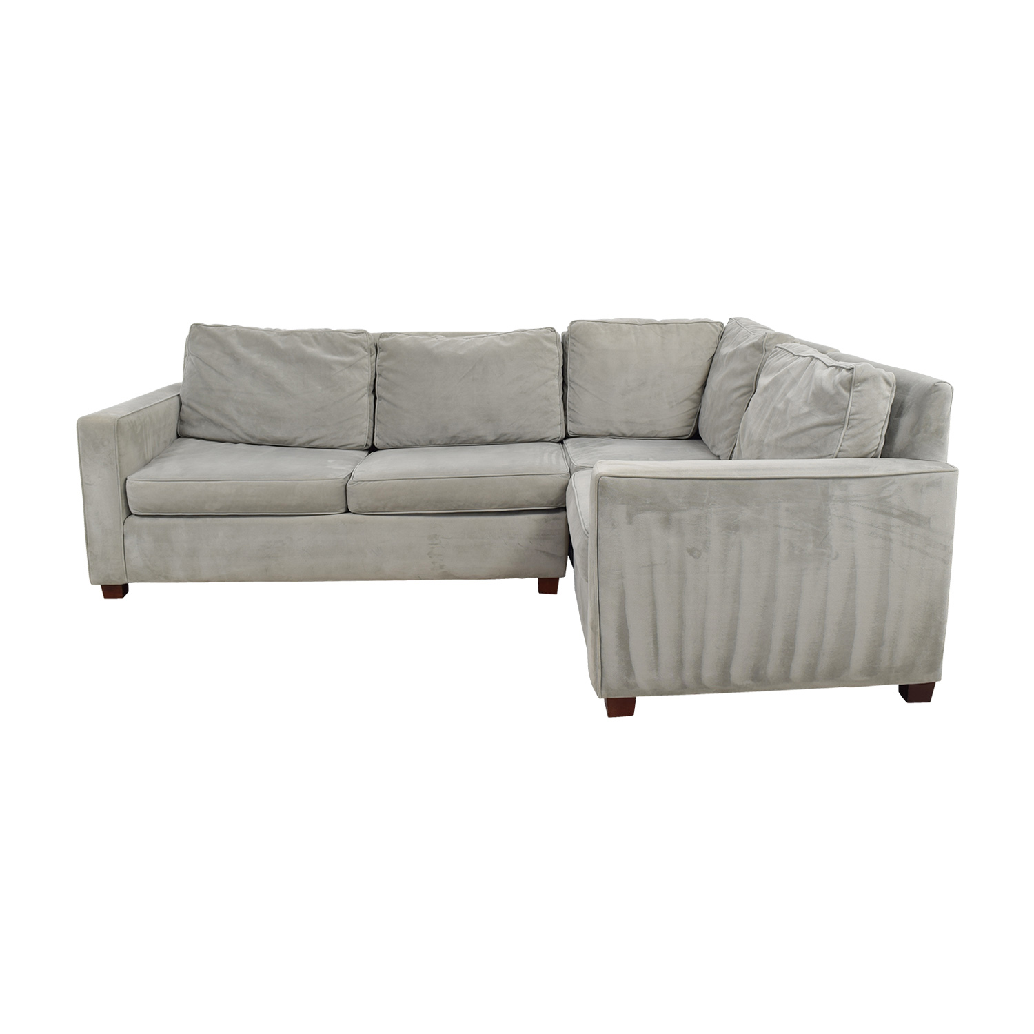 West Elm West Elm Henry Velvet Stone Sectional price