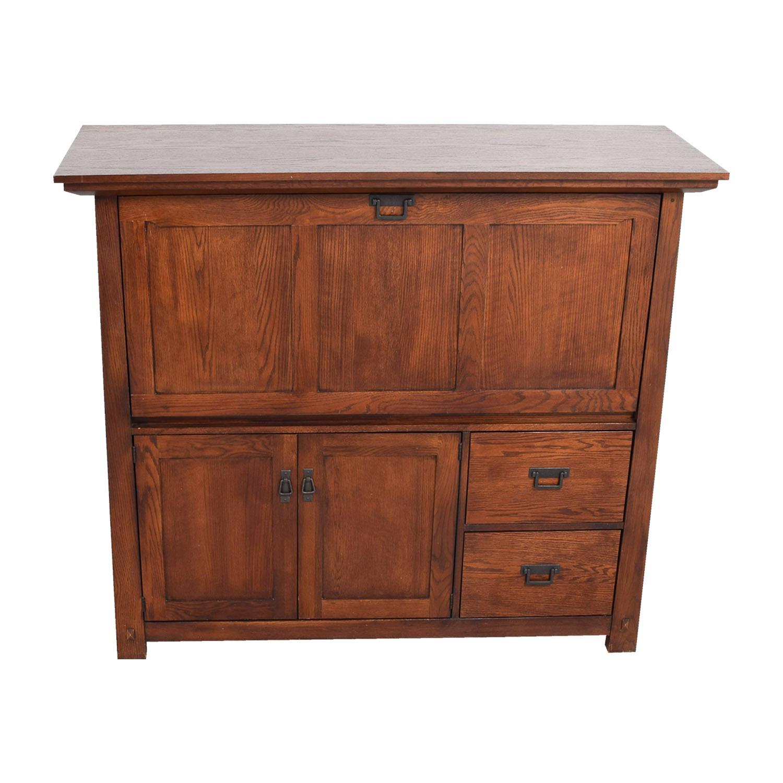 Restoration Hardware Restoration Hardware Wood Business Center Desk Home Office Desks