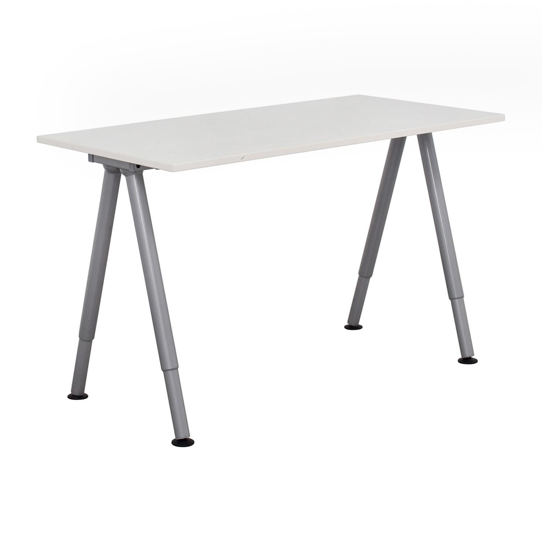 79% OFF - IKEA IKEA Thyge White Desk / Tables