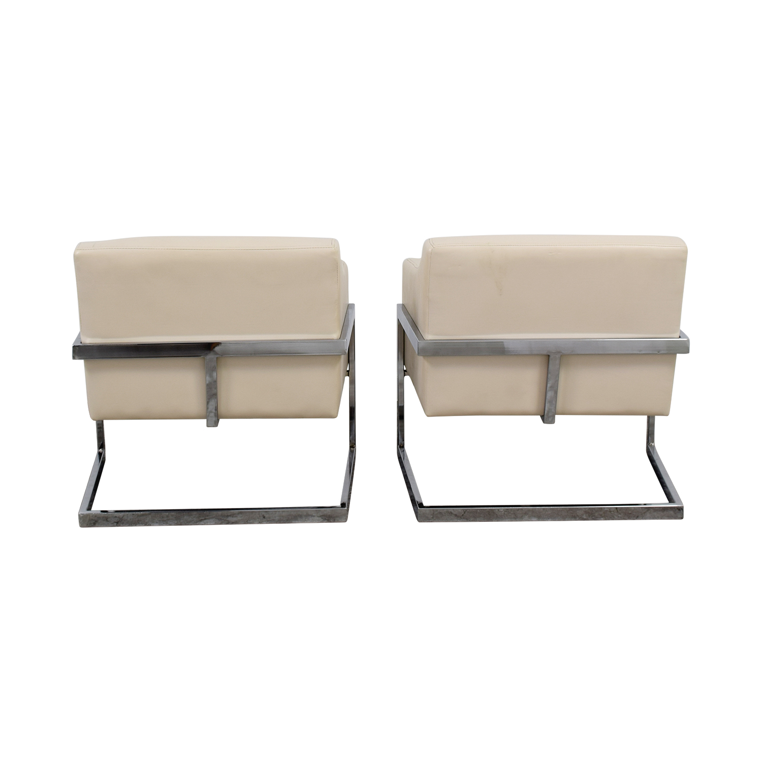 Coaster Coaster White Leatherette Accent Chairs discount