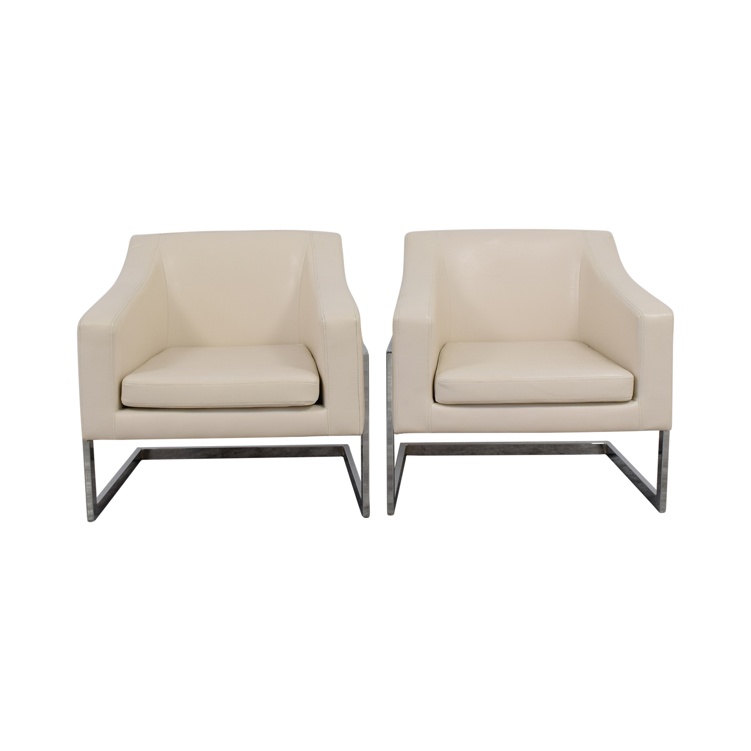 Coaster Coaster White Leatherette Accent Chairs on sale