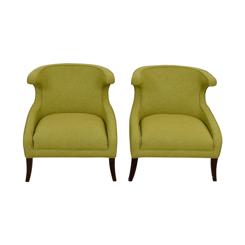 66 Off Sunpan Sunpan Elliot Green Accent Chairs Chairs