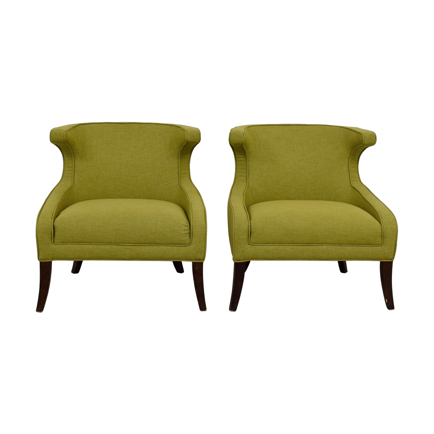 Sunpan Elliot Green Accent Chairs Sunpan