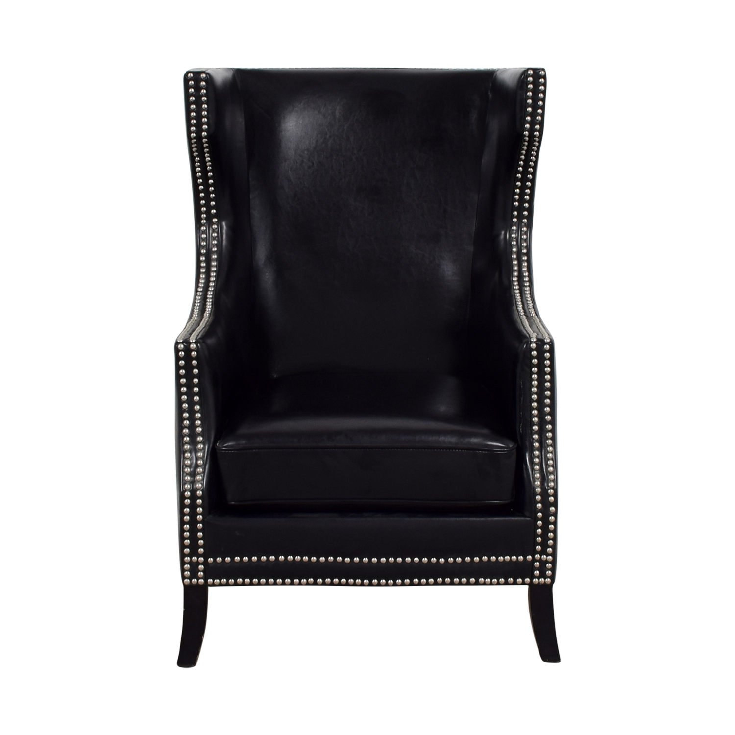 buy Brownstone Upholstery Brownstone Upholstery Thomas Black Nailhead Club Chair online