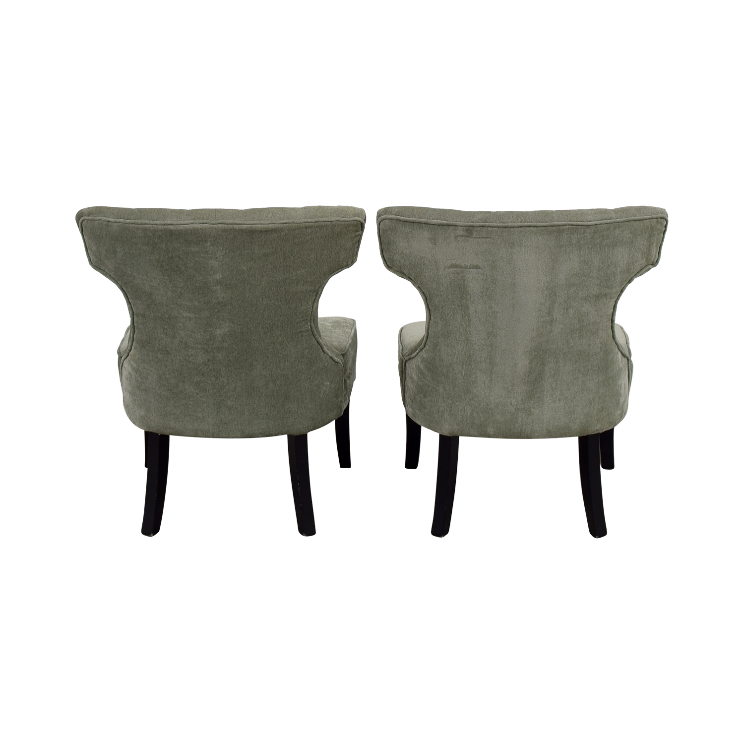 All Modern All Modern Ritz Teal Tufted Accent Chairs discount