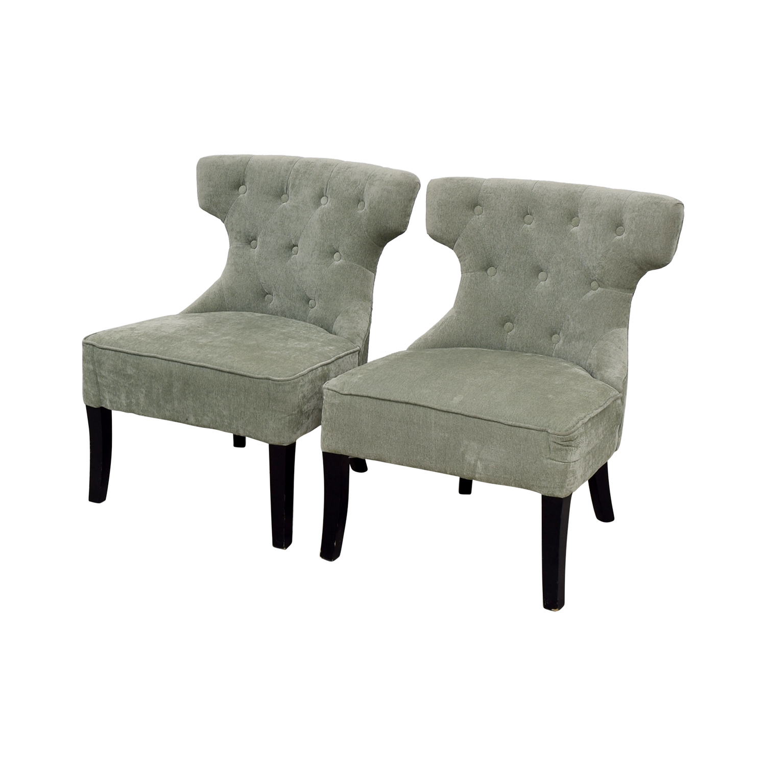 Super 79 Off Allmodern All Modern Ritz Teal Tufted Accent Chairs Chairs Dailytribune Chair Design For Home Dailytribuneorg