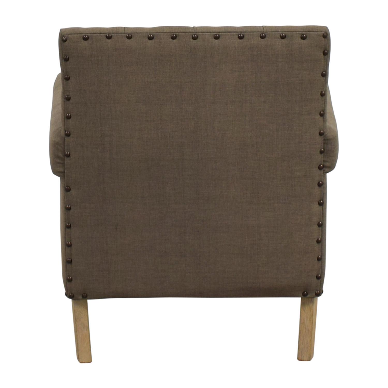 Safavieh Safavieh Craig Grey Nailhead Club Chair used