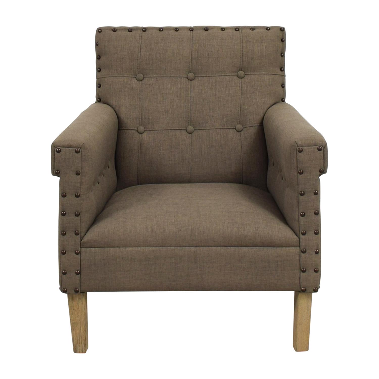 Safavieh Craig Grey Nailhead Club Chair sale