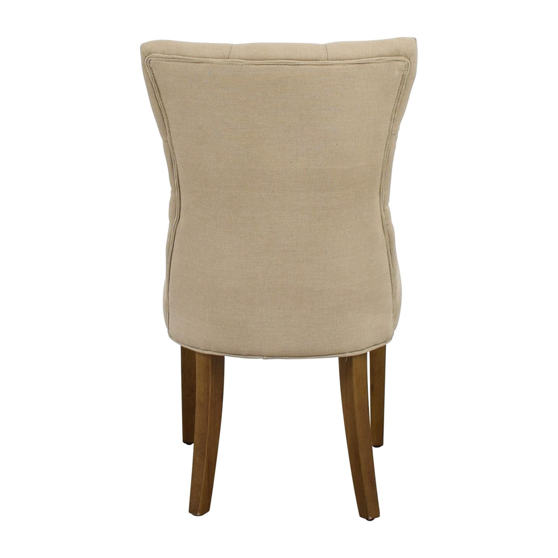 Surya Matisse Beige Tufted Linen Chair / Chairs