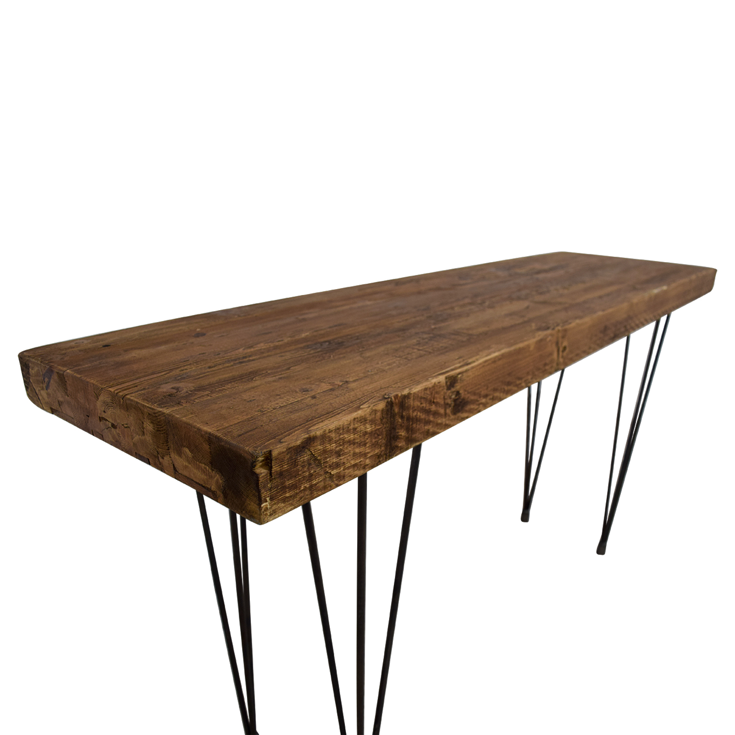 Does Home Collection Does Home Collection Boneta Rustic Wood Console second hand