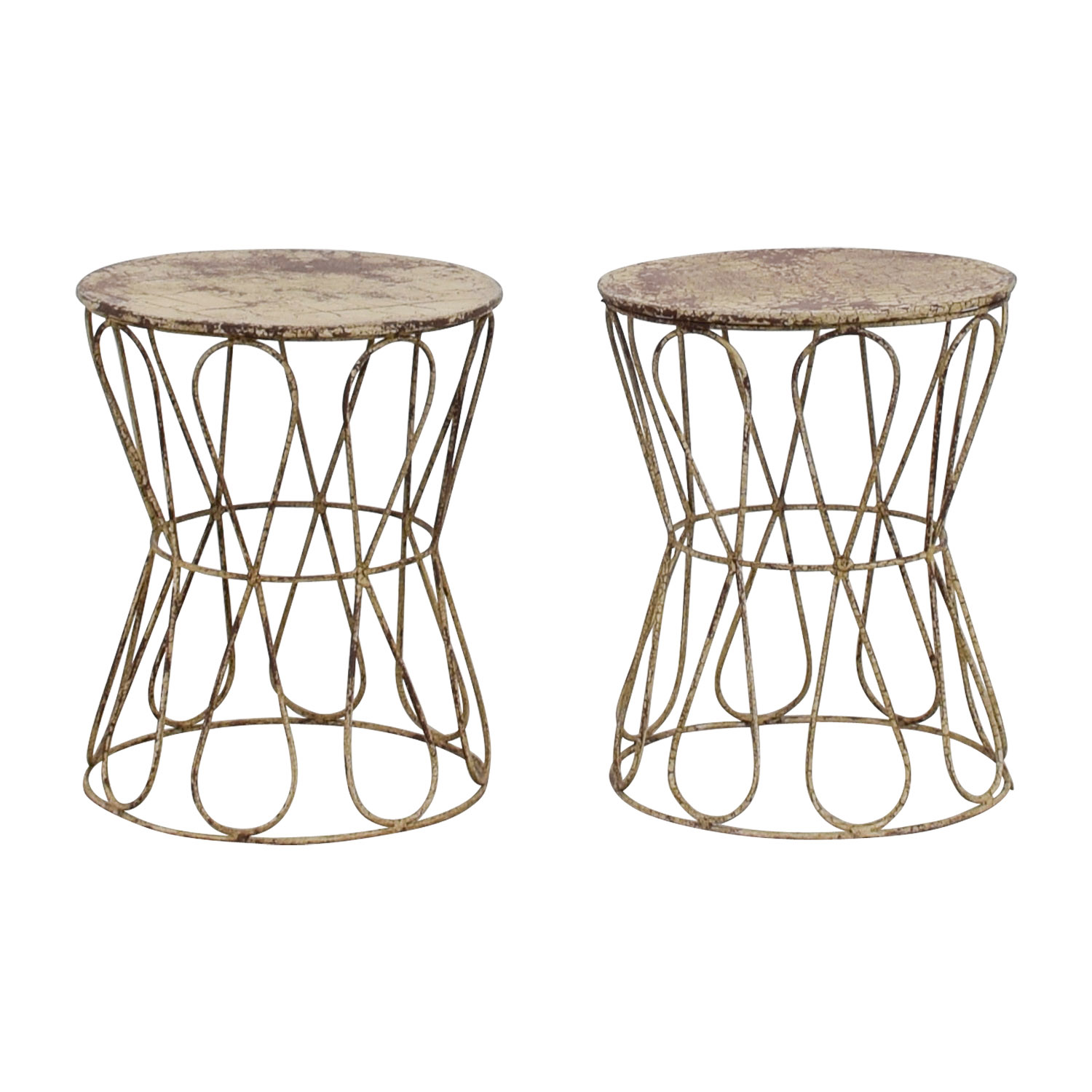 Go Home Go Home Rustic Knot Stools dimensions