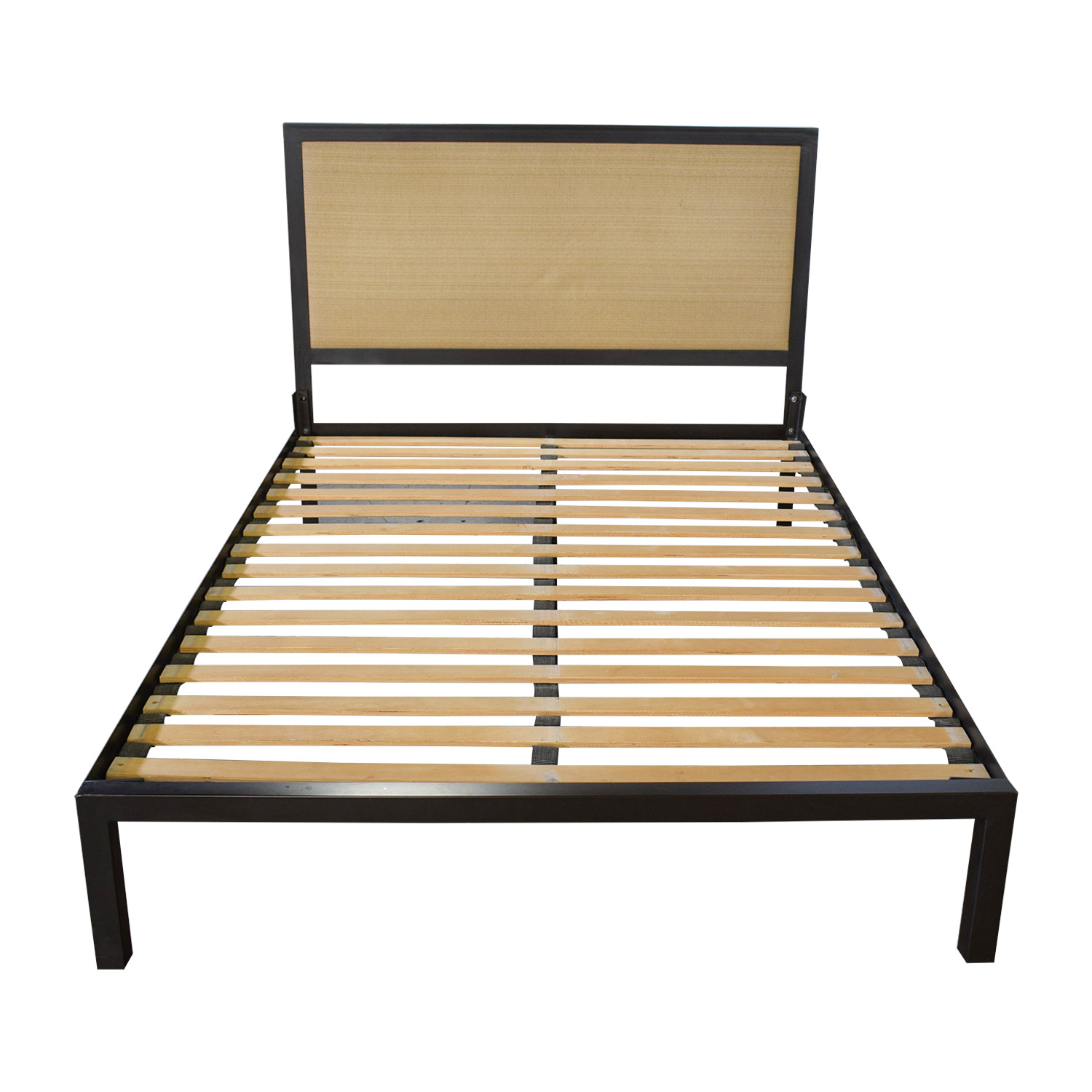 buy Crate & Barrel Steel Queen Bed Frame Crate & Barrel Beds