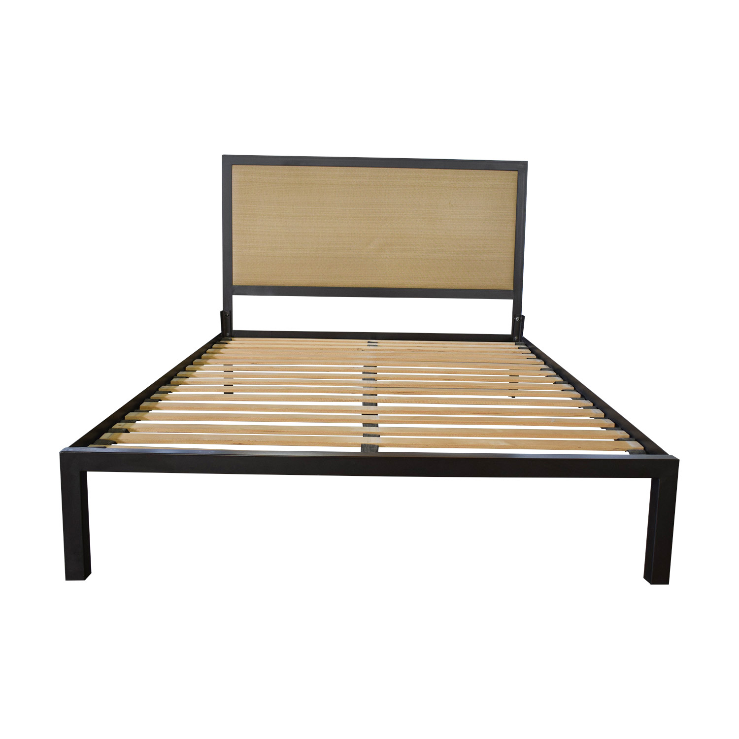 buy Crate & Barrel Crate & Barrel Steel Queen Bed Frame online