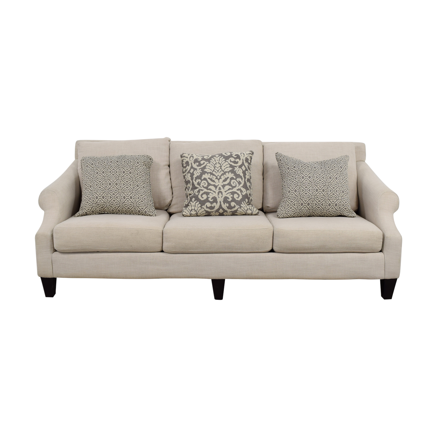 Rooms To Go Rooms To Go Off Beige Three-Cushion Couch price