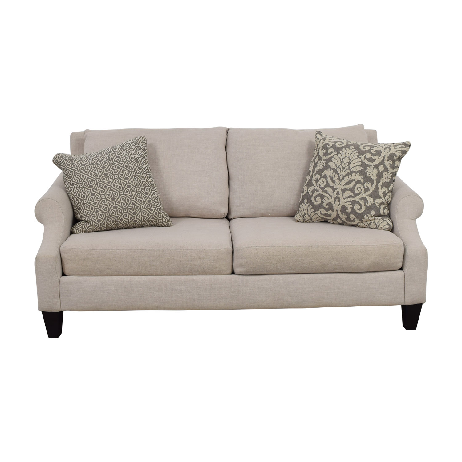 shop Rooms To Go Beige Two-Cushion Loveseat Rooms To Go Loveseats