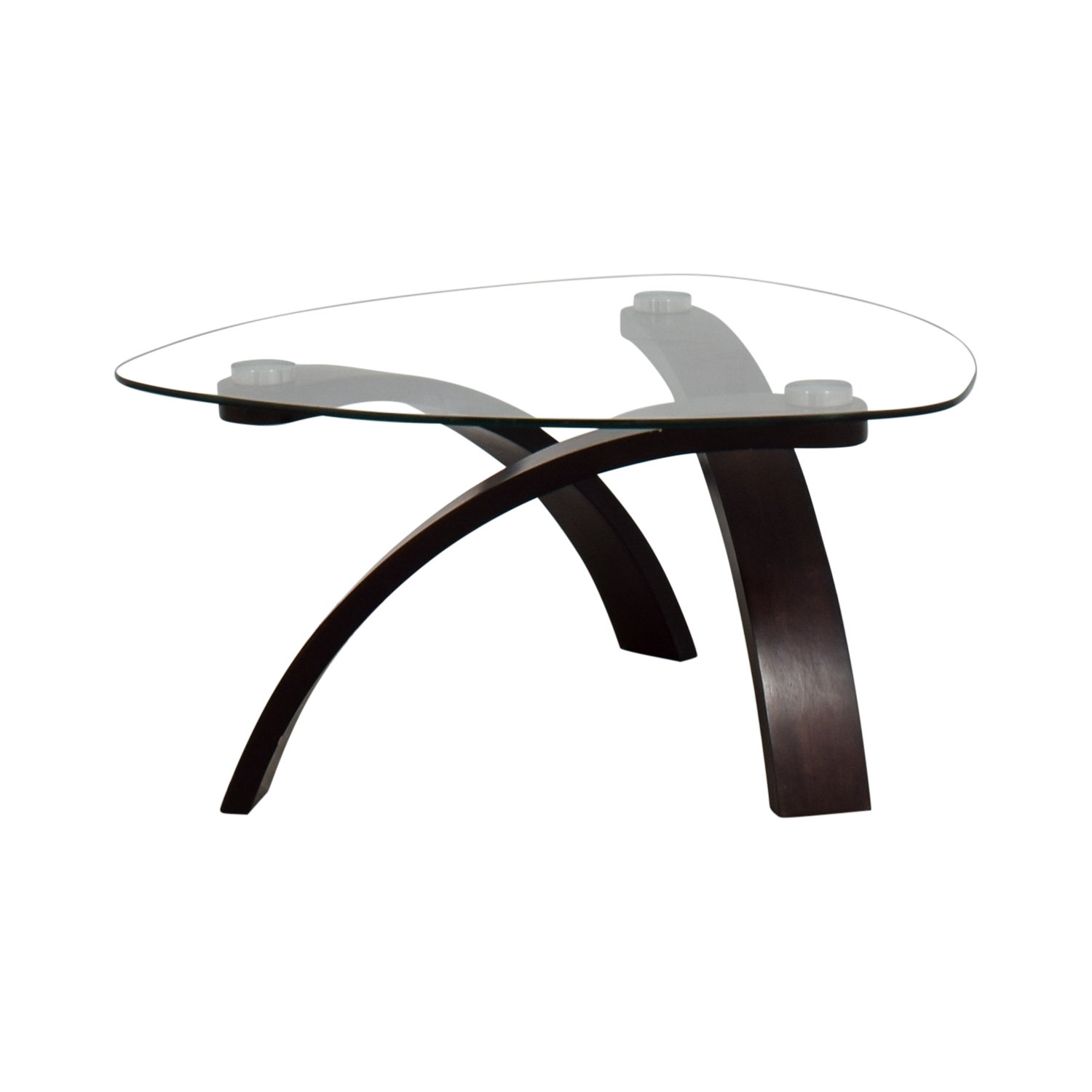 - 74% OFF - Rooms To Go Rooms To Go Glass And Wood Coffee Table / Tables