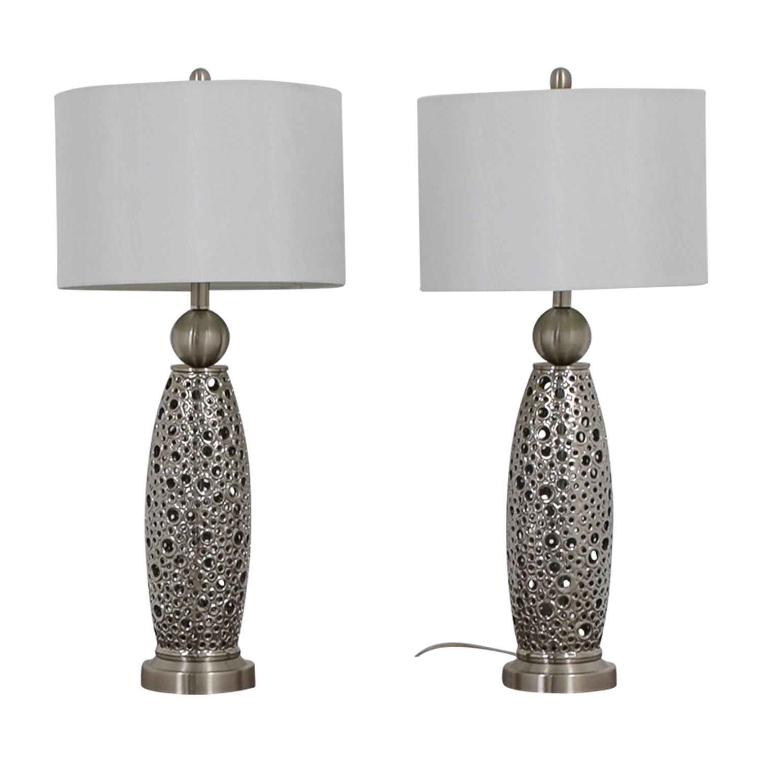 Rooms To Go Filigree Circle Silver Lamps sale