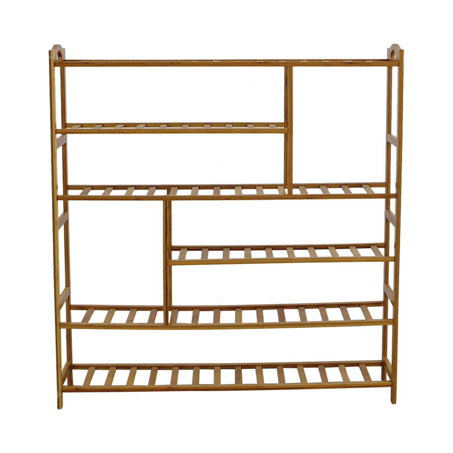 shop Ollieroo Natural Wood Shoe Rack Ollieroo Storage
