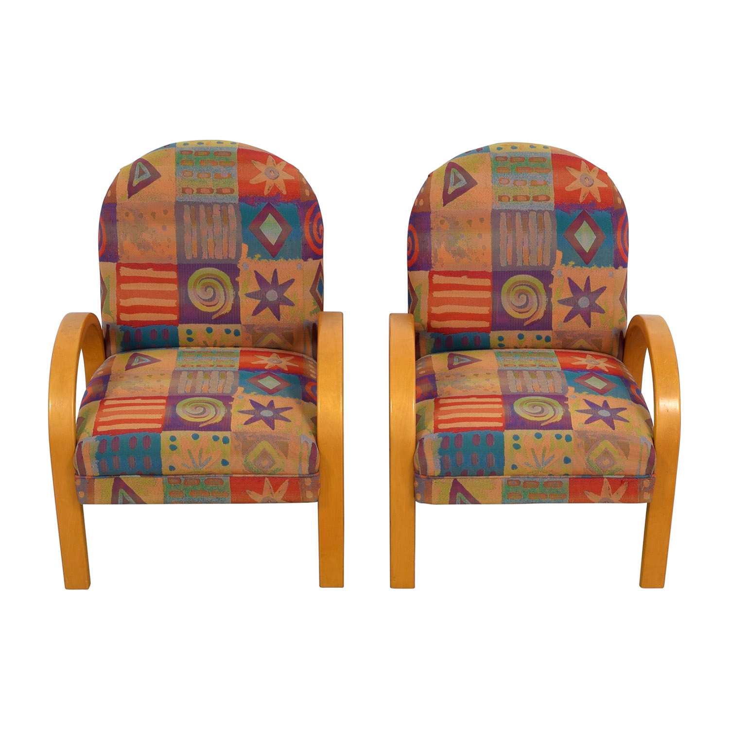 Lazy Boy Sectionals >> 90% OFF - Lazy Boy Lazy Boy Multi-Colored Club Chairs / Chairs