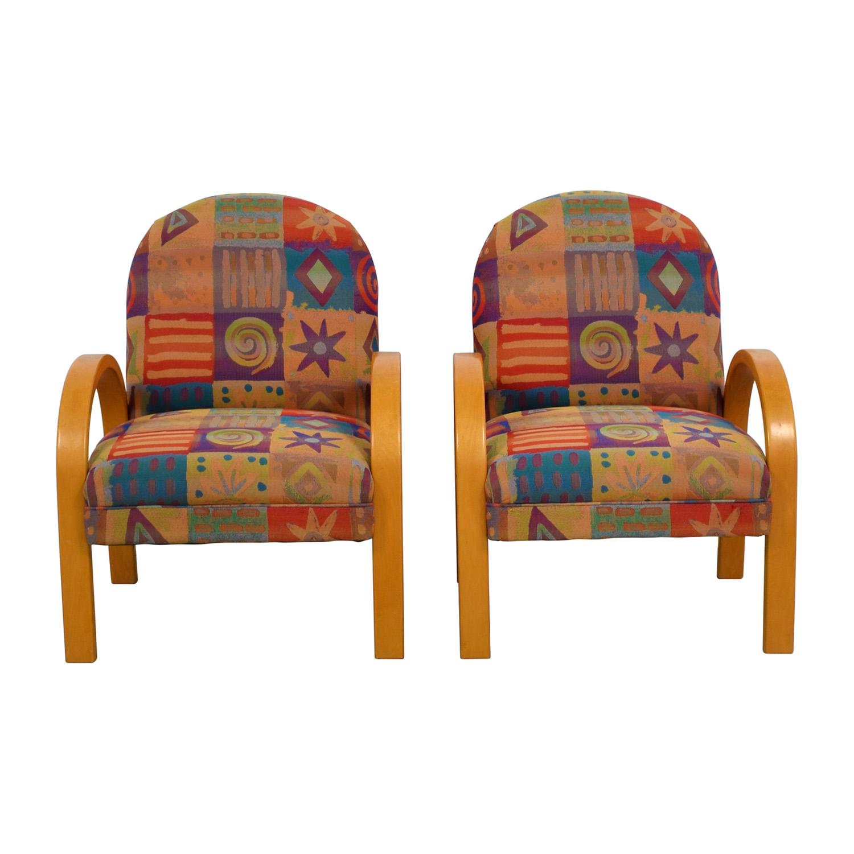 Lazy Boy Multi-Colored Club Chairs Lazy Boy
