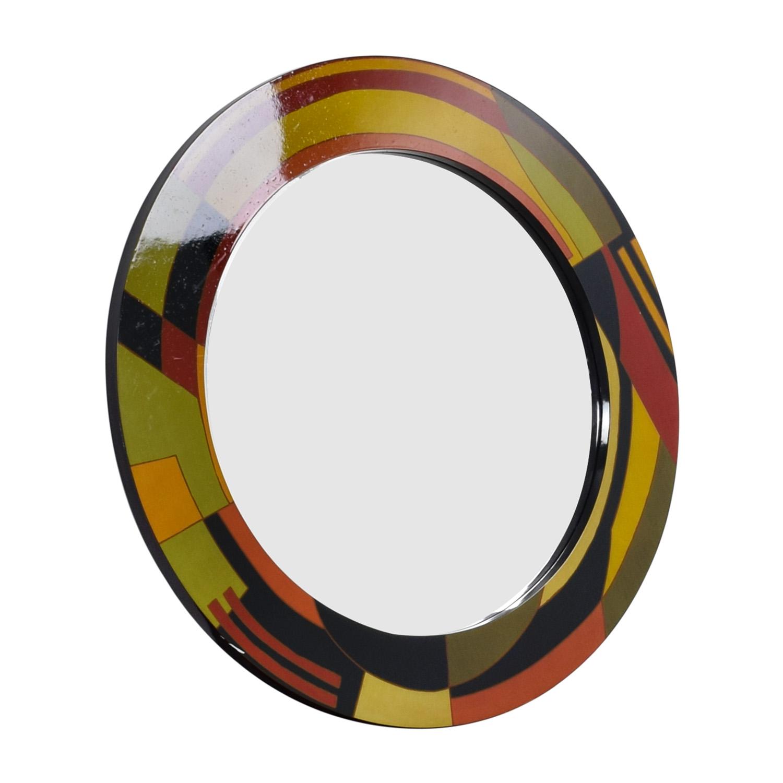 . 88  OFF   Rooms To Go Rooms To Go Multi Colored Round Contemporary Mirror    Decor