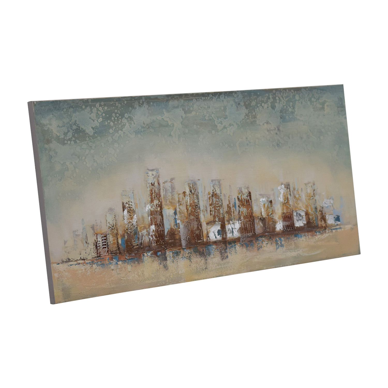 buy Pier 1 Imports Skyline Wood Framed Painting Pier 1 Imports Wall Art