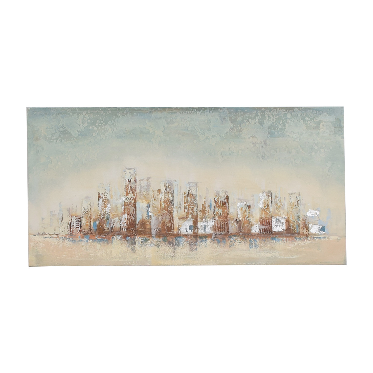 Pier 1 Imports Skyline Wood Framed Painting sale