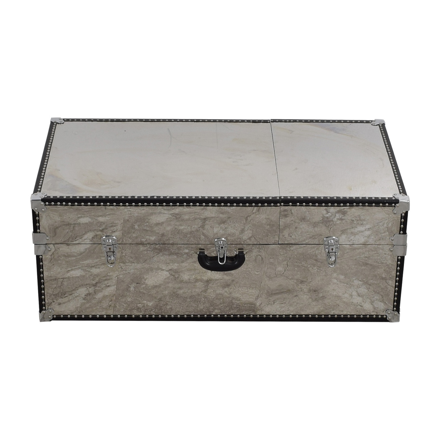 Mirrored Truck Coffee Table with Storage on sale