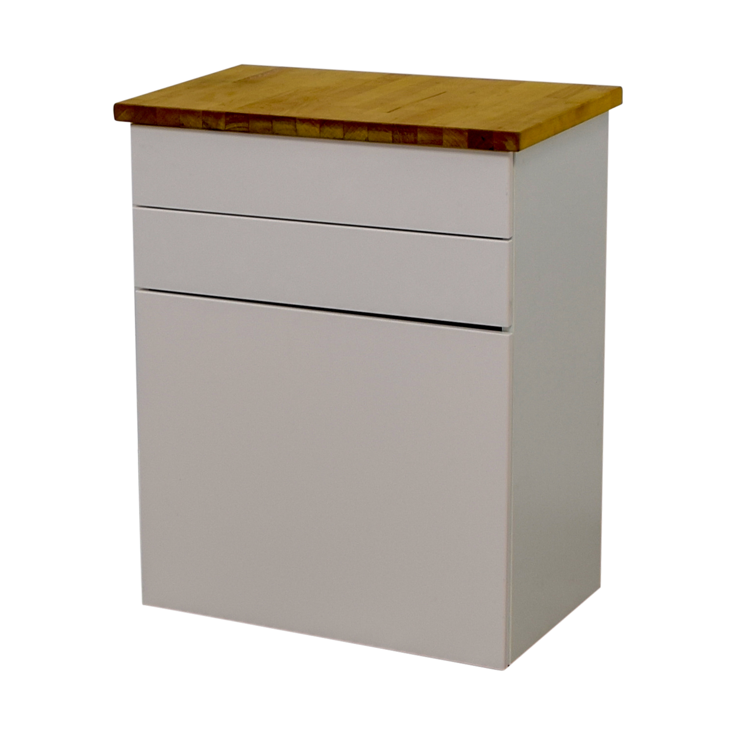 74 off ikea ikea white butcher block counter cabinet for Ikea butcher block table