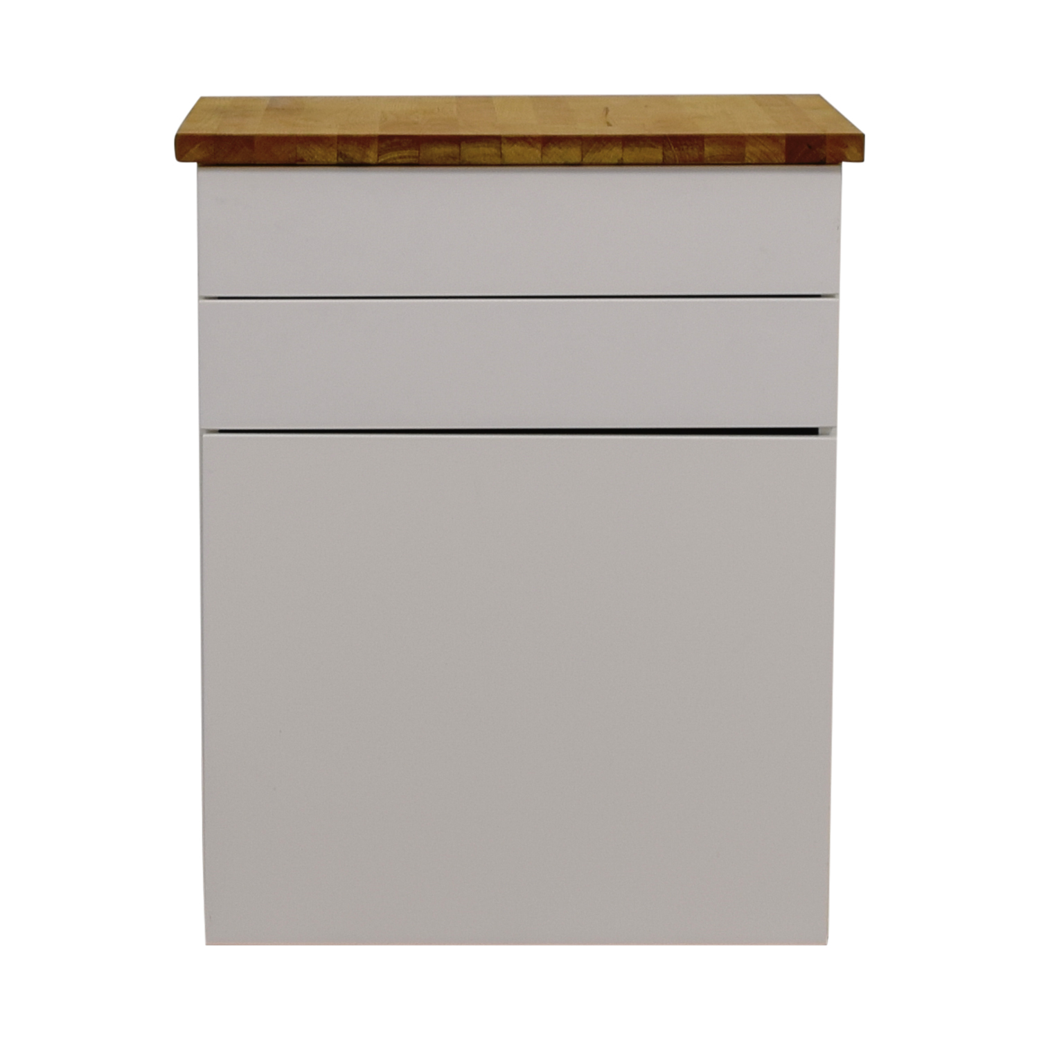 IKEA IKEA White Butcher Block Counter Cabinet With Two Drawers Nj ...