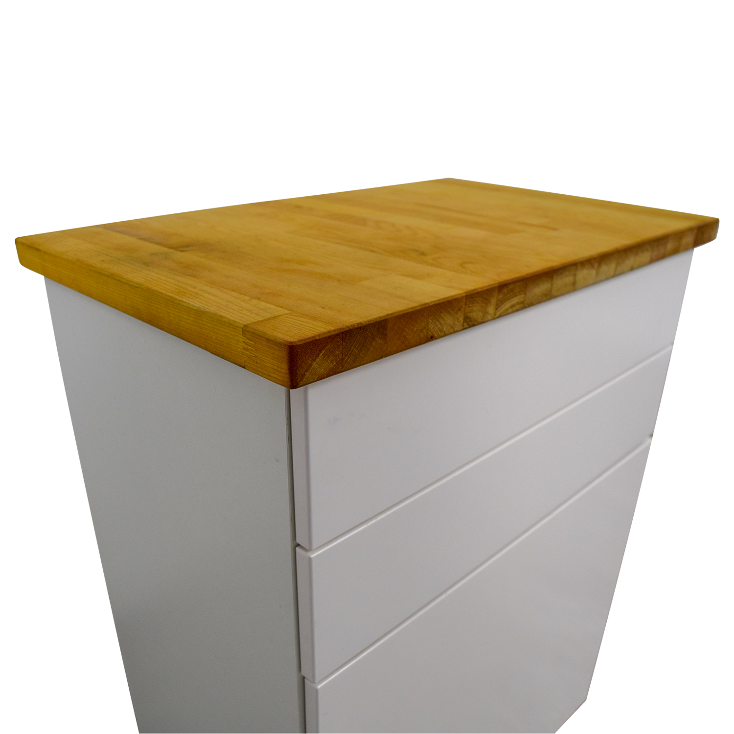 74 off ikea ikea white butcher block counter cabinet with two drawers tables. Black Bedroom Furniture Sets. Home Design Ideas