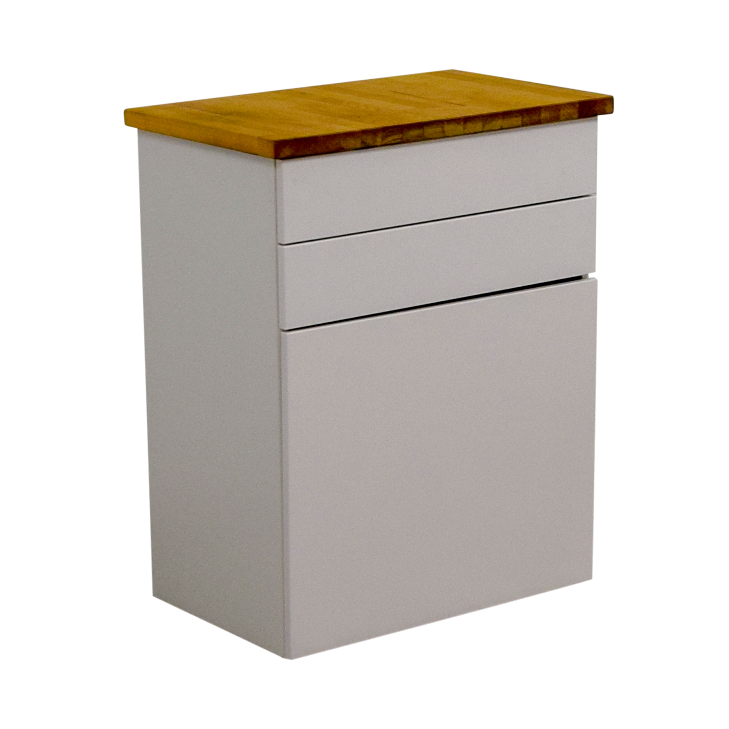 74 off ikea ikea white butcher block counter cabinet. Black Bedroom Furniture Sets. Home Design Ideas