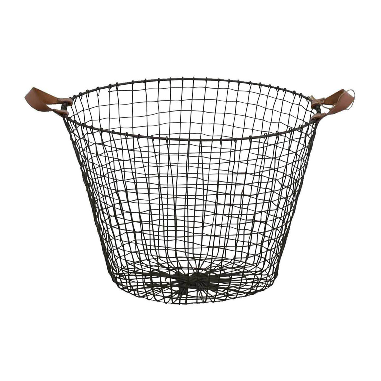 HomeGoods HomeGoods Metal and Leather Basket price