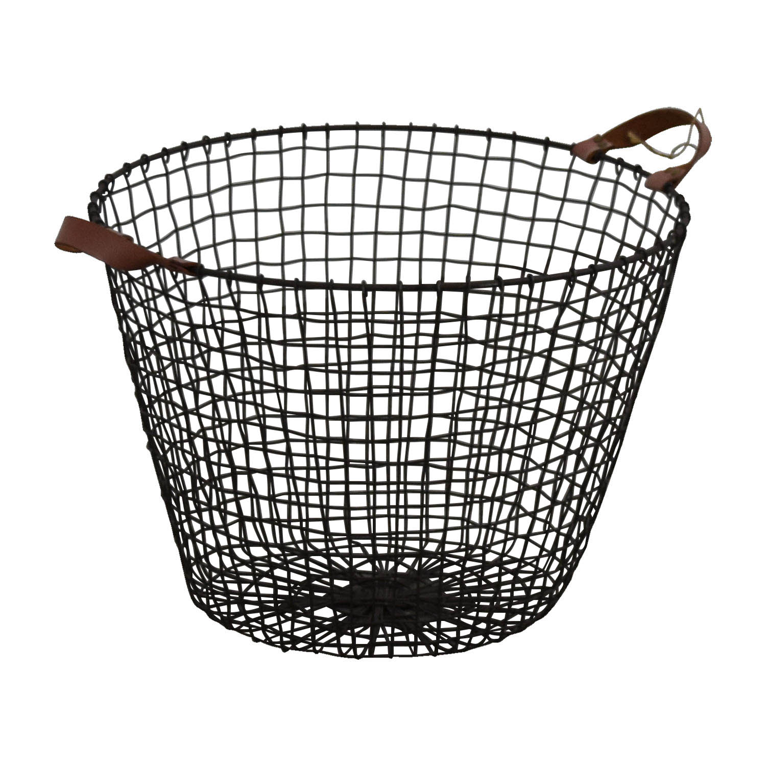 37 Off Homegoods Homegoods Metal And Leather Basket Decor